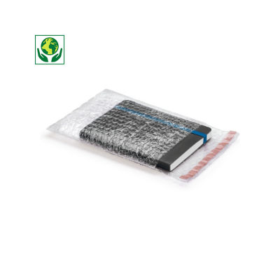 RAJA bubble bags with an adhesive strip