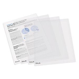 RAJA Busta a L, 22 x 30 cm, Polipropilene 80 micron, Finitura goffrata, Trasparente (confezione 50 pezzi)