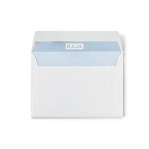 RAJA Busta commerciale, Senza finestra, Patella gommata, 16 x 23 cm, Bianco (confezione 500 pezzi)