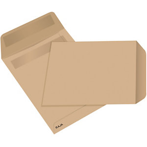 RAJA Busta a sacco, Strip adesivo, 23 x 33 cm (A4), Avana (confezione 25 pezzi)
