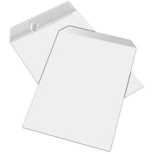RAJA Busta a sacco, Strip adesivo, 25 x 35,3 cm, Bianco (confezione 250 pezzi)