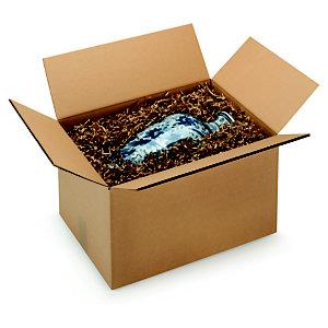 RAJA Caisse américaine carton double cannelure - L.int. 15 x l.15 x h.15 cm - Kraft brun