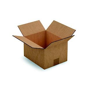 RAJA Caisse américaine carton double cannelure - L.int. 25 x l.20 x h.15 cm - Kraft brun