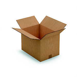 RAJA Caisse américaine carton double cannelure - L.int. 43 x l.31 x h.30 cm - Kraft brun