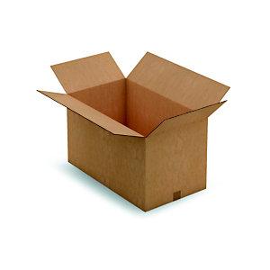 RAJA Caisse américaine carton double cannelure - L.int. 70 x l.40 x h.40 cm - Kraft brun