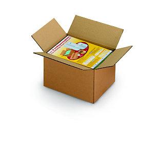 RAJA Caisse américaine carton simple cannelure - L.int. 16 x l.12 x h.11 cm - Kraft brun