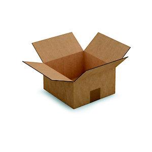 RAJA Caisse américaine carton simple cannelure - L.int. 20 x l.20 x h.11 cm - Kraft brun