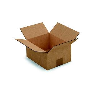 RAJA Caisse américaine carton simple cannelure - L.int. 23 x l.19 x h.12 cm - Kraft brun