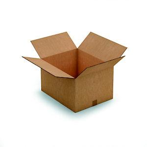 RAJA Caisse américaine carton simple cannelure - L.int. 30 x l.25 x h.20 cm - Kraft brun