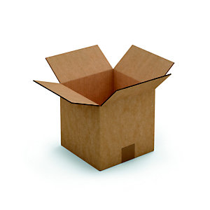 RAJA Caisse américaine carton simple cannelure - L.int. 40 x l.40 x h.40 cm - Kraft brun
