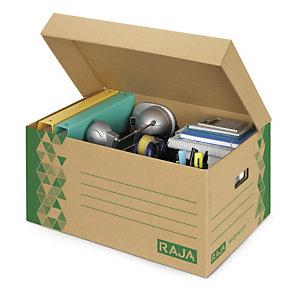 Raja Caisse archives carton recyclé - Kraft / Vert