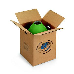 RAJA Caisse de déménagement en carton brun double cannelure avec poignées - L.int.45 cmx l.45 x H.56,5 cm