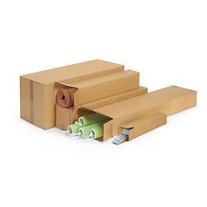 RAJA Caisse longue en carton brun - L.50 x l.10 x H.10 cm