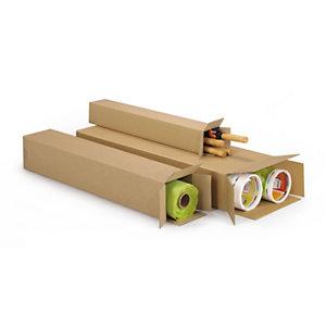 RAJA Caisse longue en carton brun - L.80 x 10 x 10 cm