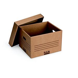 RAJA Caisse multi-usage montage automatique en carton 70% recyclé - Brun