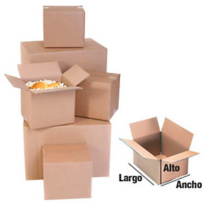 RAJA Caja embalaje canal simple 310 x 220 x 150 mm (largo x ancho x alto)