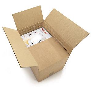 RAJA Caja de embalaje canal simple de altura variable 600 x 400 x 350 / 450 mm (largo x ancho x alto)