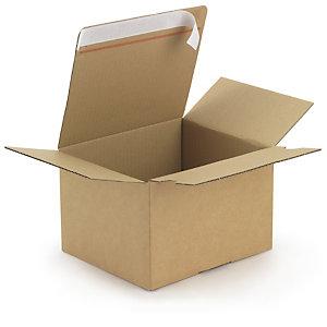 RAJA Caja embalaje con fondo automático y cierre adhesivo 160 x 130 x 70 mm (largo x ancho x alto)