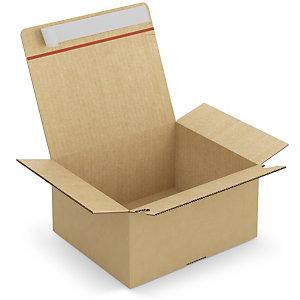 RAJA Caja embalaje con fondo automático y cierre adhesivo 260 x 220 x 130 mm (largo x ancho x alto)