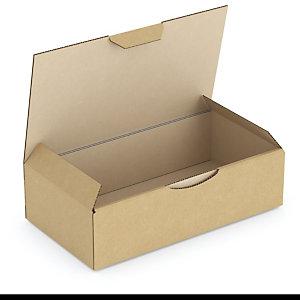 RAJA Caja postal de cartón 180 x 100 x 50 mm (largo x ancho x alto) marrón