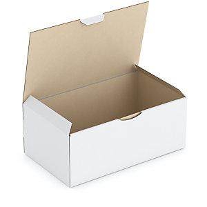 RAJA Caja postal de cartón 250 x 150 x 100 mm (largo x ancho x alto) blanca