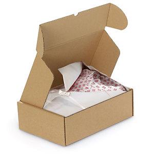 RAJA Caja postal con cierre reforzado 430 x 310 x 100 mm (largo x ancho x alto) marrón