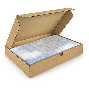 RAJA Caja postal plana 215 x 155 x 50 mm (largo x ancho x alto) marrón