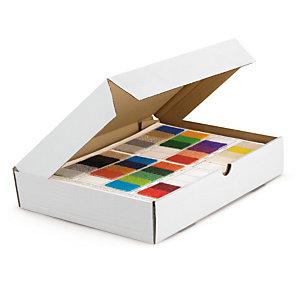 RAJA Caja postal plana 460 x 360 x 50 mm (largo x ancho x alto) blanca