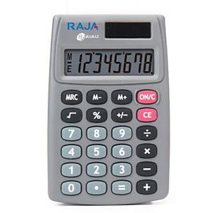 RAJA Calcolatrice tascabile 510, 8 cifre, Grigio