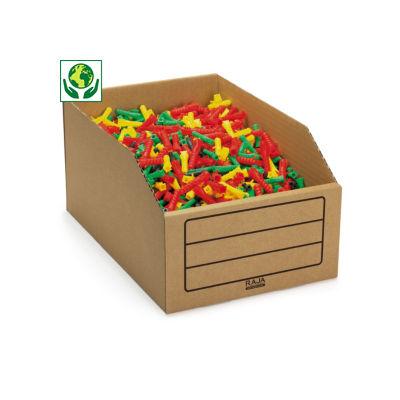 RAJA cardboard storage bins