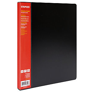 RAJA Carpeta de fundas A4, 60 fundas, lomo personalizable, negro