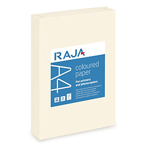 RAJA Carta colorata A4 per Fax, Fotocopiatrici, Stampanti Laser e Inkjet, 80 g/m², Avorio pastello (risma 500 fogli)