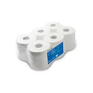 RAJA Carta igienica Mini Jumbo in rotolo, 2 veli, 524 fogli, Bianco (confezione 12 rotoli)