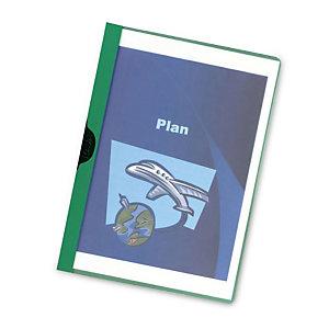 RAJA Cartellina con clip fermafogli, Capacità 30 fogli, PVC, Verde (confezione 25 pezzi)