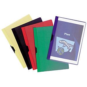 RAJA Chemise à clip métal  couverture en PVC 30 feuilles - couleurs assorties