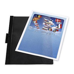 RAJA Chemise à clip métal  couverture en PVC 30 feuilles  - Noir