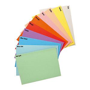 RAJA Chemises dossiers 220g recyclées - 24 x 32 cm - Assortis pastel