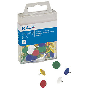 RAJA Chinchetas plastificadas de colores