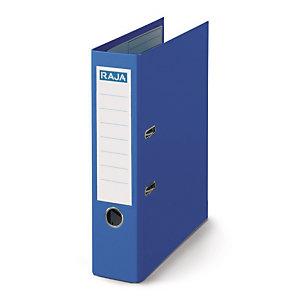 RAJA Classeur à levier A4 Premium en polypropylène - Dos 8 cm - Bleu