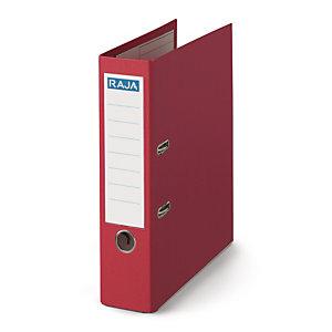 RAJA Classeur à levier A4 Premium en polypropylène - Dos 8 cm - Rouge