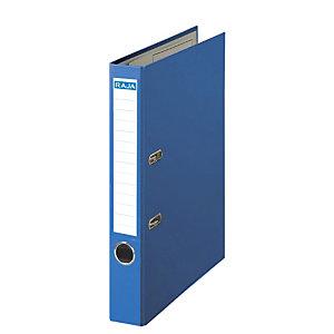 RAJA Color Archivador de palanca, A4, Lomo 50 mm, Capacidad 350 hojas, Cartón recubierto de polipropileno, Azul
