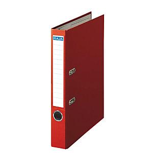 RAJA Color Archivador de palanca, A4, Lomo 50 mm, Capacidad 350 hojas, Cartón recubierto de polipropileno, Rojo