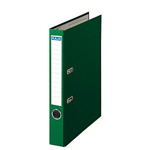 RAJA Color Archivador de palanca, A4, Lomo 50 mm, Capacidad 350 hojas, Cartón recubierto de polipropileno, Verde