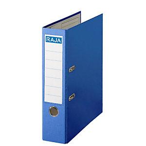 RAJA Color Archivador de palanca, A4, Lomo 75 mm, Capacidad 500 hojas, Cartón recubierto de polipropileno, Azul
