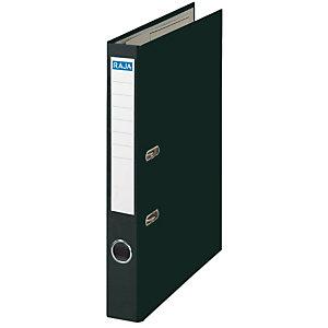 RAJA Color Archivador de palanca, Folio, Lomo 50 mm, Capacidad 350 hojas, Cartón recubierto de polipropileno, Negro