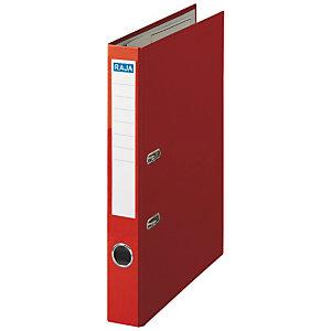 RAJA Color Archivador de palanca, Folio, Lomo 50 mm, Capacidad 350 hojas, Cartón recubierto de polipropileno, Rojo