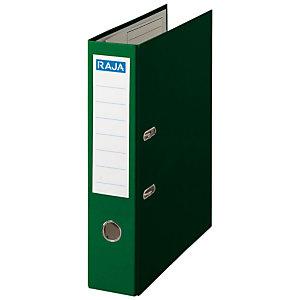 RAJA Color Archivador de palanca, Folio, Lomo 80 mm, Capacidad 520 hojas, Cartón recubierto de polipropileno, Verde