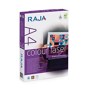 RAJA Colour Laser Carta per fotocopie A4 per Fotocopiatrici, Stampanti Laser e Inkjet, 90 g/m², Bianco
