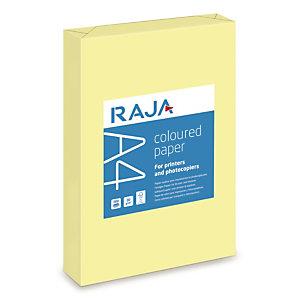 RAJA Coloured Paper Papel de Colores para Faxes, Fotocopiadoras, Impresoras Láser e Impresoras de Inyección de Tinta Amarillo Pastel A4 80 g/m²
