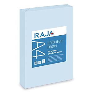 RAJA Coloured Paper Papel de Colores para Faxes, Fotocopiadoras, Impresoras Láser e Impresoras de Inyección de Tinta Azul Pastel A4 80 g/m²